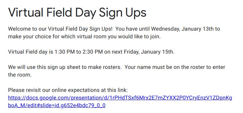 Virtual Field Day!