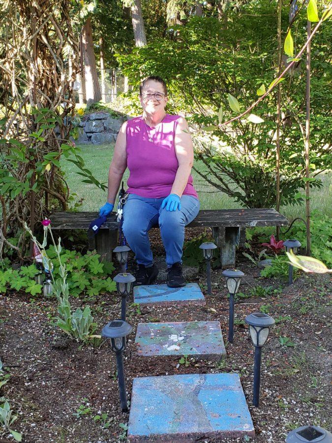 Ms. Smith in the Peace Garden